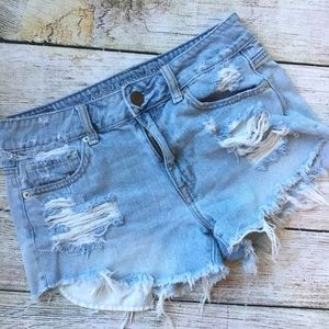 {American Eagle} Destroyed High-waisted Shorts
